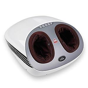 Fußmassagegerät SIMBR Fußmassagegerät elektrisch mit Shiatsu Massage Hitze Rolling, Luftdruck Automatische Massageprogramme in 3 verschiedene Intensitätsstufen (Starke Intensität)