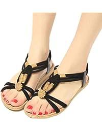 Été nouvelles femmes & # 39; tête carrée de sandales pieds rugueux avec des chaussures à talons hauts,noir,37