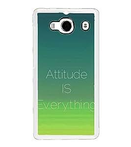 Attitude is Everything 2D Hard Polycarbonate Designer Back Case Cover for Xiaomi Redmi 2S :: Xiaomi Redmi 2 Prime :: Xiaomi Redmi 2
