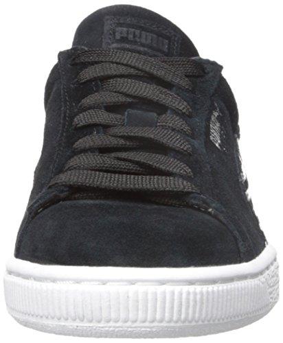 Puma Suede Classic + Stripes Sneaker Black/White