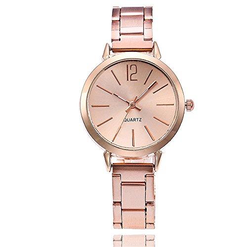Frauen Armbanduhren,Damen Uhren Günstige Uhren Damen Mode Analoge Quarz Uhr Luxus Edelstahl Armband Uhren Elegant Einfach Armbanduhr Business Uhr für Mädchen Frau Damenuhr