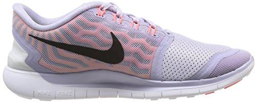 Nike Free 5.0, Chaussures de Running Femme Multicolore (Titanium/Black-FchsFlsh-HT LV)