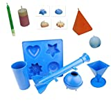 Proops Set 5Kerze Formen, 1x Tablett mit 4Formen, 1x Säule, 1x Pyramide, 1x Kugel, 1X Rocket (S7552). Versandkostenfrei innerhalb UK