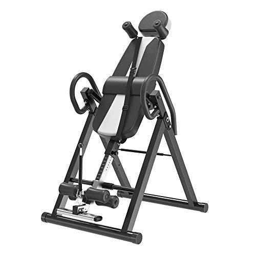 TQSDYY Inverted Trainingsmaschine, Heavy Duty Inverted Werkbank, mit Kopfstütze und einstellbarem Schutz mit Rücken Tragbahre, for Familie, Büro, Gymnasium