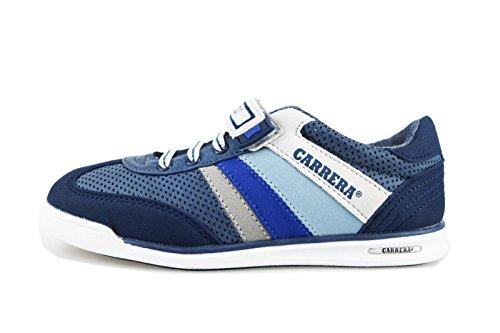 CARRERA JEANS sneakers bambino blu / bianco pelle camoscio (33 EU, Blu)