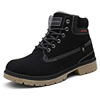 Ulogu Snow Boots Men Women Warm Winter Boots Fur Lined Walking Hiking Boots