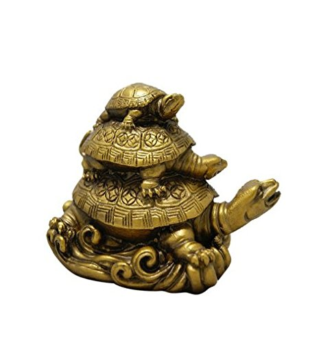 Ankita Gemstones Three Tiered Tortoises For Health Wealth And Luck - Feng Shui Vastu For Office