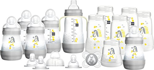 MAM Easy Start Babyflaschen-Set, selbststerilisierend, Anti-Kolik-Starter-Set, klein