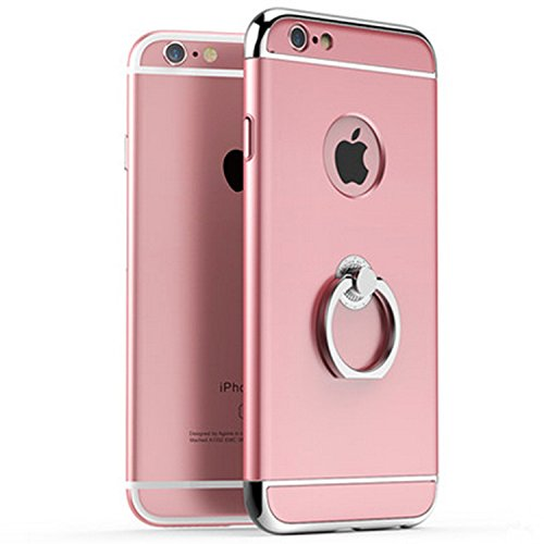 Yitla Case Cover for iPhone 6/iPhone 6s 6sPlus / iPhone 5 5S SE with 360 Degree Rotating Ring Kickstand (iPhone6/6s, Rose Gold) Gold