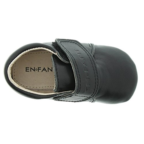 EnFant bébé mixte, chaussures souples / chaussons à scratch, cuir 00 Black