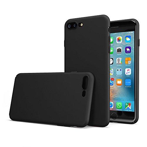 """CoverStyle® Custodia UltraSoft® Sottile 1.0mm Rigida con Effetto Opaco Soft-Touch per iPhone 7 Plus (5.5"""") - Nero Opaco"""