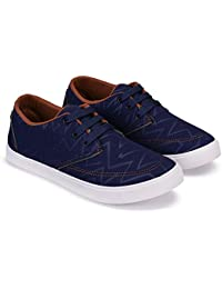 Zenwear Casual Lace Up Sneakers for Men, Blue