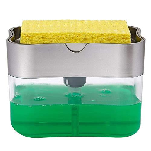 Dispensador de jabón de cocina con portaestropajo modelo Rawdah