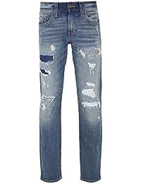 e82399779 True Religion Geno No Flap EKIM Worn Indigo Tracks Jeans