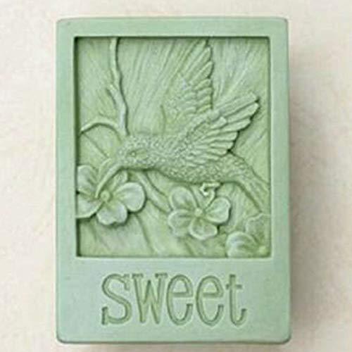 FidgetGear Silikonform für Seife, Vogel, Kolibri, zum Basteln von Seife, Kerze, Kunstharz -