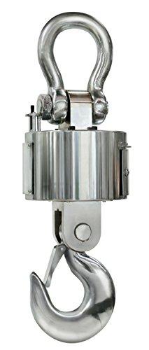 Robuste Industrie-Kranwaage [Kern HFT 15T5] mit Funk-Auswertegerät und Datenschnittstelle RS-232 zur äœbertragung der Wägeergebnisse, Wägebereich [Max]: 15000 kg, Ablesbarkeit [d]: 5000 g