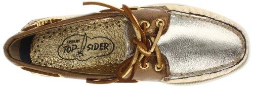 Sperry Top Sider A/O 2 Eye Patent Bicolore, Damen Mokassins Grey
