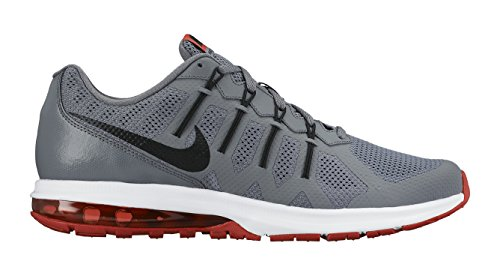 Nike Air Max Dynasty Unisexe-Chaussure de course Blanc Gris / Negro / Naranja / Blanco (Cool Grey / Black-Lt Crmsn-White)