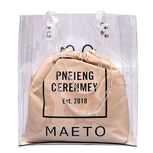 21abdbd98 Luckycat bolsa de dos empaqueta el sistema Letra Impreso muchacha de las  mujeres del hombro del
