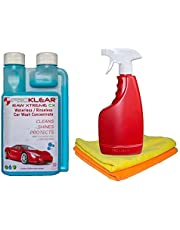 Proklear CXK250 RAW Xtreme CX Carnauba Wax Rinseless/Waterless Auto Wash Concentrate - Startup Kit (250ml)