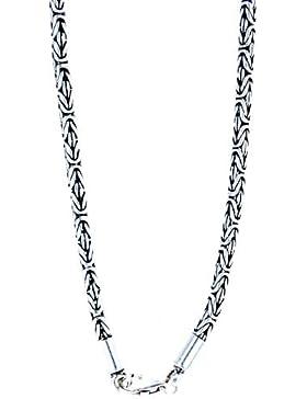 Edle Königskette aus 925 Sterling Silber, 3,5 mm dick, verschiedene Längen