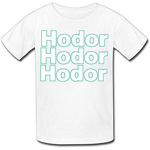 xj-cool Hodor sostener la puerta Kid 's Funny Tee Azul Marino