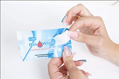 Diabetes finger testing wipes 25 wipes x 10 packets
