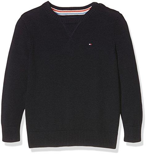 Tommy Hilfiger Jungen Basic Htr CN Sweater L/S, Blau (Midnight 403), 12 Jahre (Herstellergröße: 152)