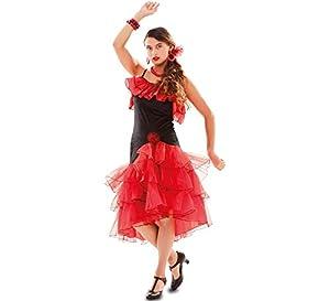 Fyasa 706556-t04español bailarina disfraz, rojo, grande