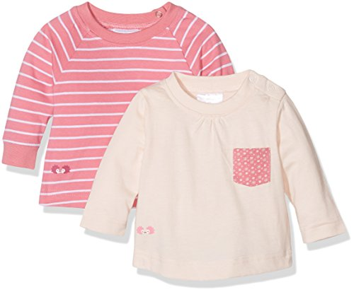 Twins Baby-Mädchen Langarmshirt, 2er Pack, Mehrfarbig (Mehrfarbig 3200), 62