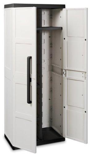Ondis24 Kunststoffspindschrank Besenschrank Comfort S grau