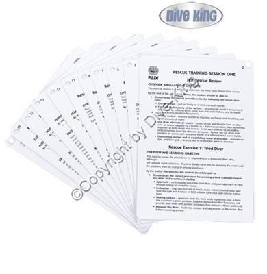 PADI Cue Cards - Rescue Diver Instructor (11 Slates) -