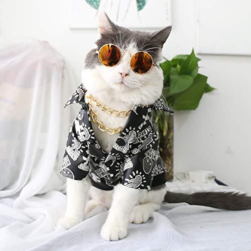 Seturrip - Pet Sonnenbrille Hund Augen-wear Katze Brille Little Dog Brille Fotos Props Hundekatzenzubehör Tierbedarf für kleine Hunde Artikel [Gold Frame Red]