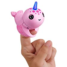 Wow Wee Fingerlings Light Up Narwhal - Rachel (Rosa)