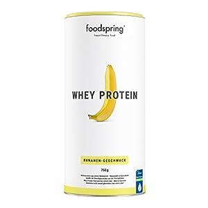 41MKdtD%2BTFL. SS300 foodspring - Whey Protein alla banana - 750 g -80% di proteine del siero del latte - Proteine per lo sviluppo muscolare
