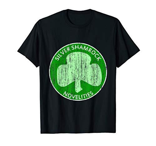 Vintage Silver Shamrock Novelties T-Shirt (Halloween Silver Shamrock)