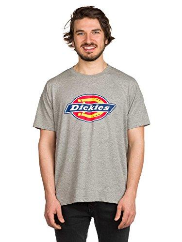 Dickies Herren Langarmshirt Streetwear Male T-Shirt Horseshoe Tee Men Grey Melange