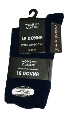 sockenhimmel Damensocken aus Baumwolle 6er Pack -Diabetikersocken- ohne Gummi ohne Naht (39-42, Marine)