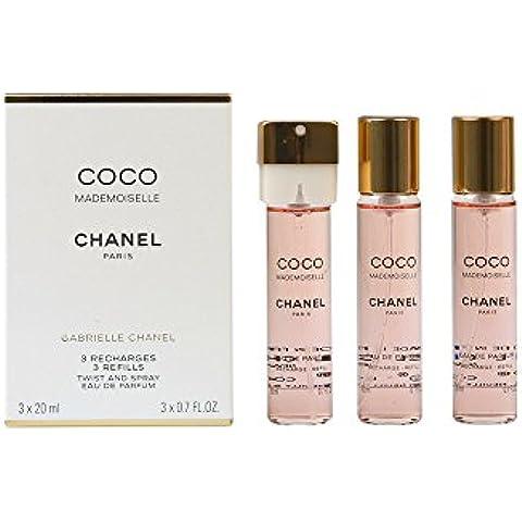 Chanel Coco Mademoiselle Agua de perfume Vaporizador 3X20 Refill