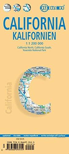 Kalifornien / California 1:1 200 000 (Borch Map)