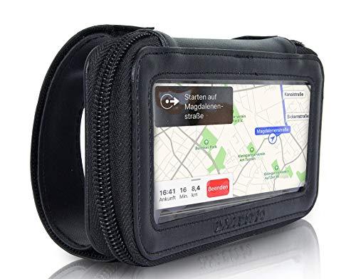 Ullermoto Supersportler Motorrad Handyhalterung Smartphonetasche für Stummellenker-Handyhalter Lenkertasche Motorrad -Handytasche Motorrad Größe M