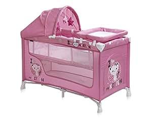 Lit parapluie bébé / Lit pliant avec matelas et sac de transport à 2 niveaux Nanny 2+ Lorelli (+ Table à langer et jouets)
