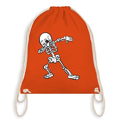 (Halloween - Dabbing Skelett - Unisize - Orange - WM110 - Turnbeutel & Gym Bag)