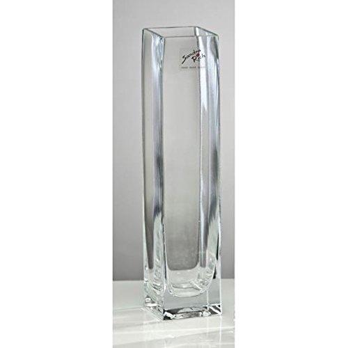 Glasvase, Blumenvase SQUARE, 25 cm, rechteckig, Glas, transparent, Sandra Rich