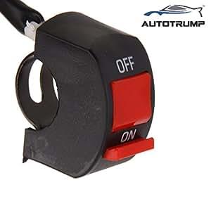 AUTOTRUMP Handlebar Mounting Switch DC 12V For Bajaj Pulsar 150cc Fog Lamp Headlight Electrical System