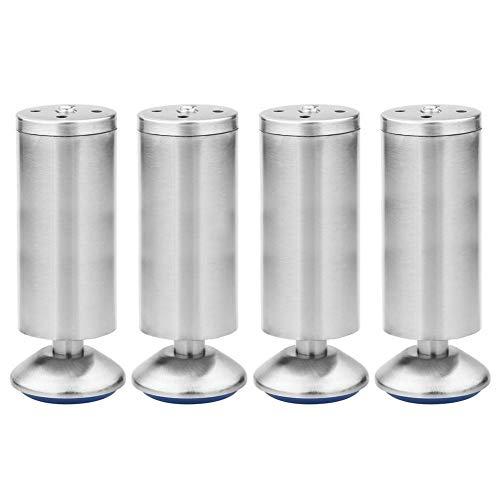 4er Set Möbelfüße verstellbar Schrankfüße Rostfreier Stahl gebürstet Verstellbare Schrankfüße Verdicken Höhenverstellbar von 0-10mm (200mm)