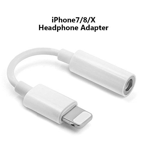 VEVICE eardphone Adapter Ladegerät Kopfhörer Kabel Audio Bluetooth Kommunikation Tragbar-Anschluss zu 3,55 mm für iPhone X/8/7/7 Plus//6S/6 Plus, iPad Pro Air/Mini und Andere Apple Produkte - Mini Ipad Ohrhörer Apple