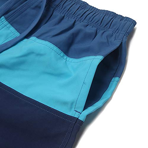 adidas Herren Colorblock Badeshorts, Legend Ink/Grey/Shock Cyan, 2XL