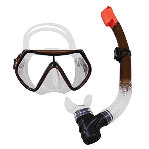 Syfinee Dry Schnorchelmaske mit breitem Sichtfenster, Anti-Fog Diving Mask für Sommer Schwimmen Titanium Color