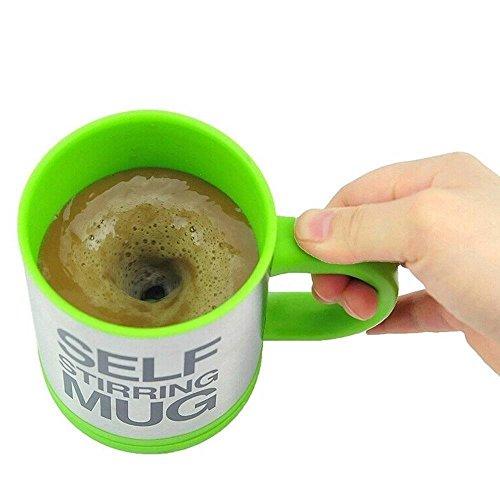 self stirring mug, JJPUNK tazza con funzione di miscelazione automatica